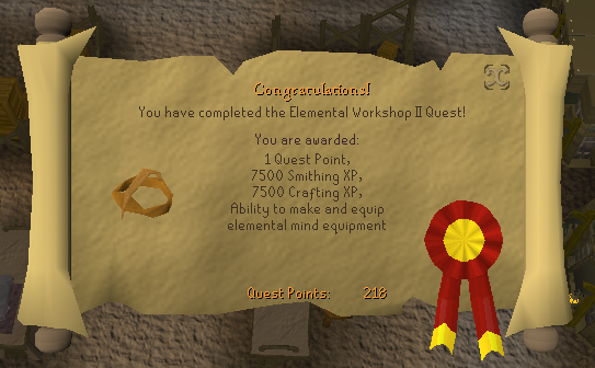 Quest completion scroll of Elemental Workshop II