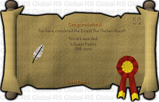 Quest completion scroll of Ernest the Chicken