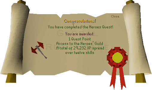 Heroes Quest Guide Global Runescape