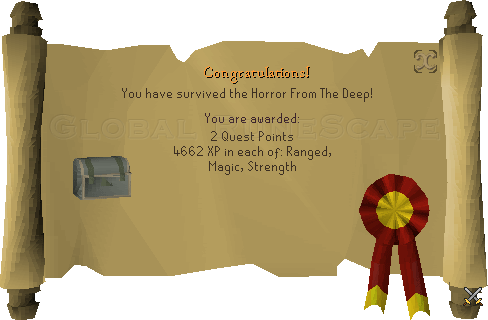 Quest completion scroll of Horror From The Deep