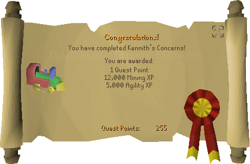 Quest completion scroll of Kennith's Concerns