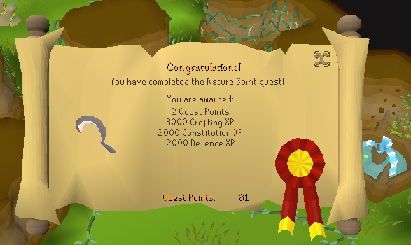Nature Spirit Quest Guide Global Runescape