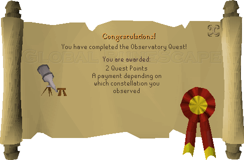 Quest completion scroll of Observatory Quest