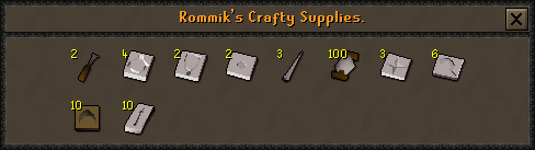 Rommik's Crafting Supplies