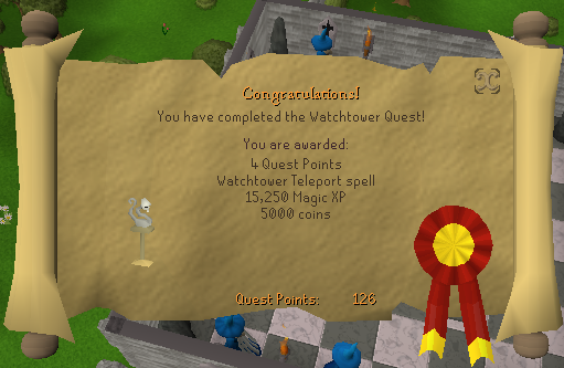 Quest completion scroll of Watchtower